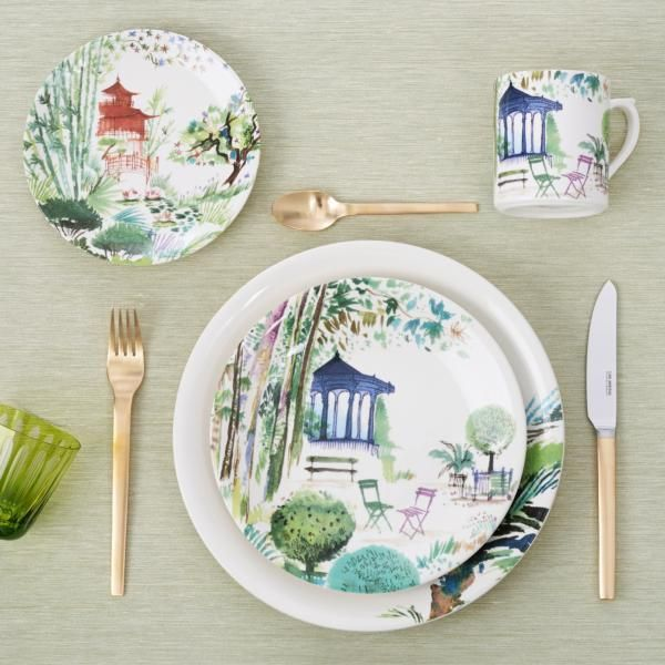Gien Jardins Extraordinaires Dinnerware | Artedona.com