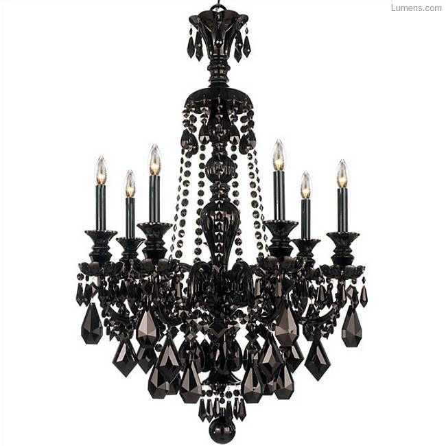 Hamilton Black Chandelier by Schonbek Lighting at Lumens.com