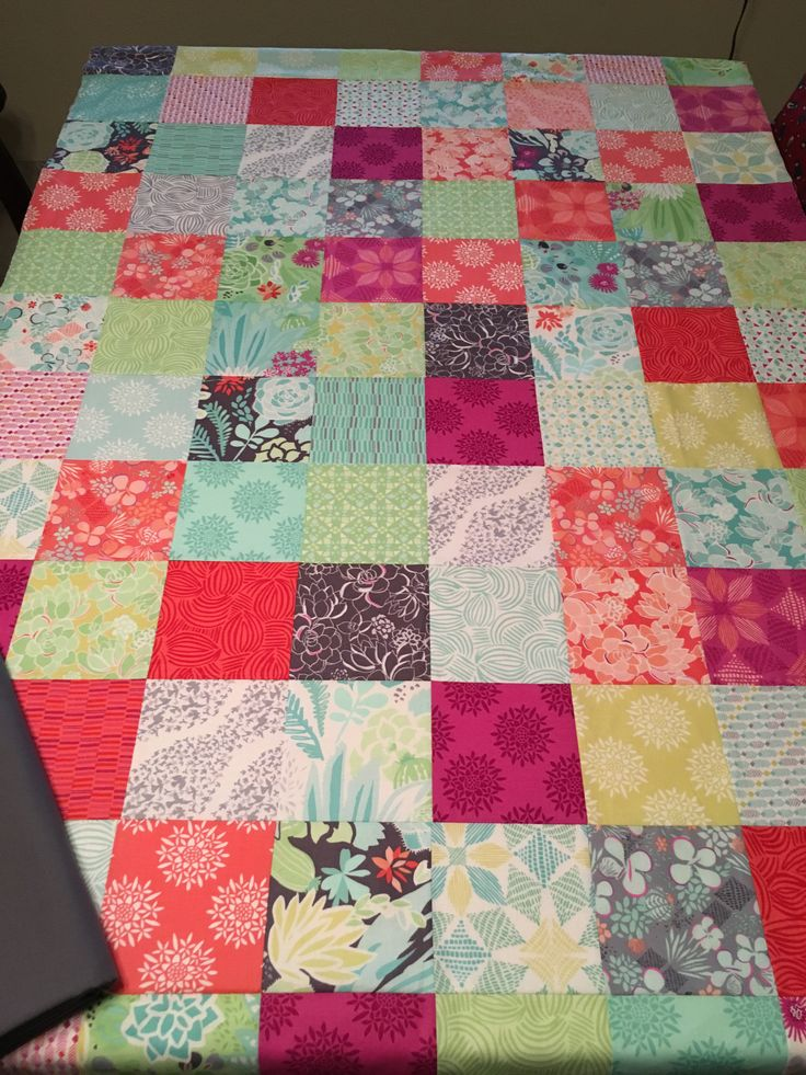 Commissioned by an old friend. I used a chevron pattern to quilt this. Moda charm pack.