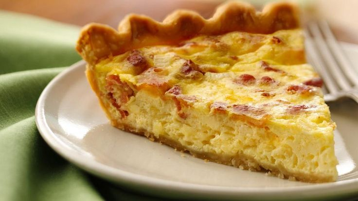 Serve your family with this cheesy pie that's made using bacon and Pillsbury® pie crust – a perfect French dinner.