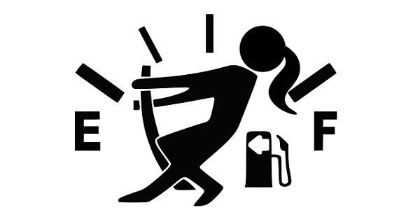 jeep gas gauge woman decal - jeep gas cap