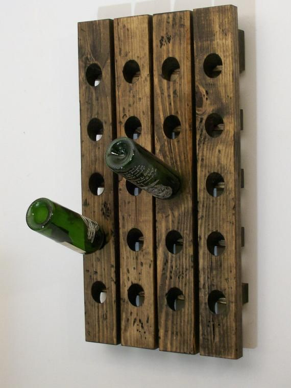Riddling Rack Distressed Wood Wine