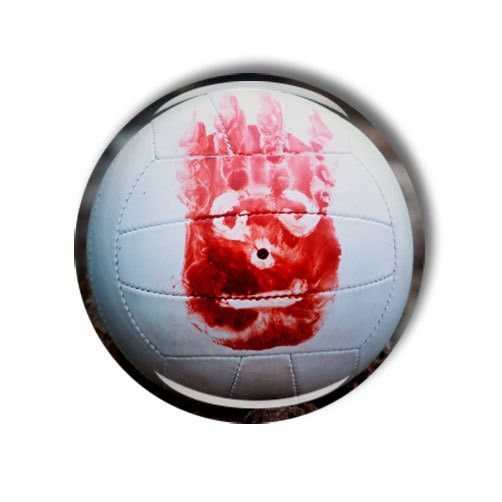 wilson the volley ball from castaway film 58MM BADGE