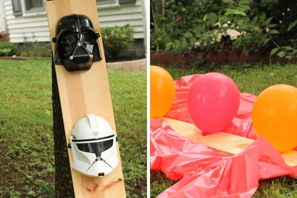 Star Wars Birthday Party with Jedi Training Academy games: blast dark side with nerf guns