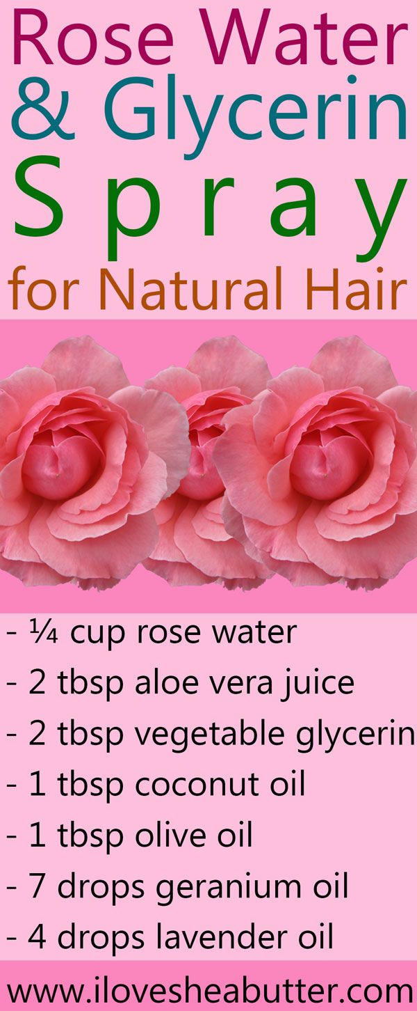 Rose Water and Glycerin for Natural Hair - I Love Shea Butter