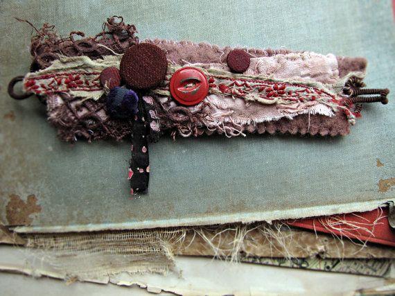 vintage fabric wrist cuff