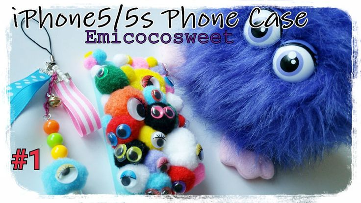 Monster Pompom Decoden Kawaii iPhone5/5s Case Cover,iPhone5 Kawaii Phone Case