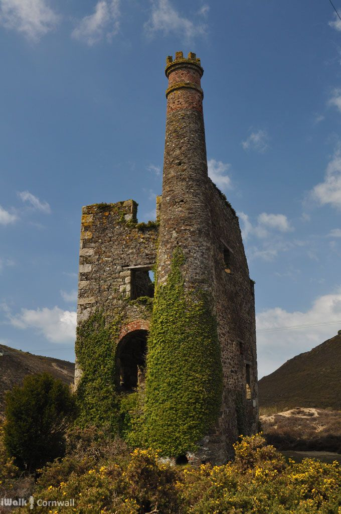 iWalk Porthtowan to Chapel Porth - a circular walk from Porthtowan, along the coast, valleys and woodland passing engine houses and other relics of Cornish copper mining - 4.7 miles - moderate - http://iwkc.co.uk/wa/133. Photos on the route: https://www.pinterest.com/iwalkcornwall/iwalk-porthtowan-to-chapel-porth/