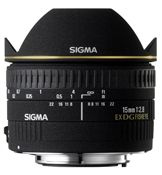 SIGMA 15mm f/2.8 EX DG Diagonal Fisheye Lens for Canon. Price $609.00