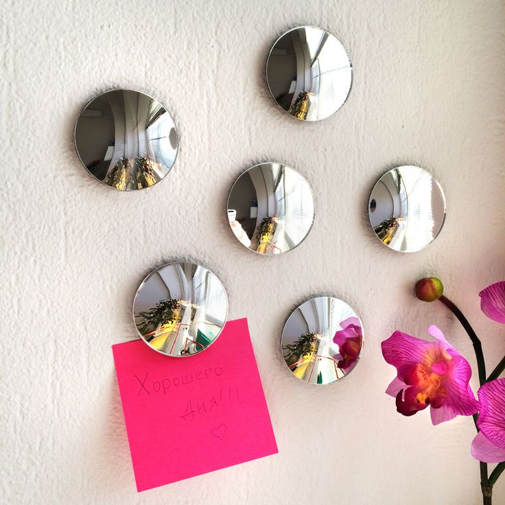 Объемные наклейки Mirror Rounds