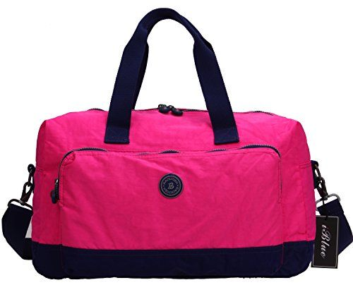 Iblue Waterproof Nylon Weekend Travel Gym Totes Shoulder Duffel Bags Lightweight 17in GymBags