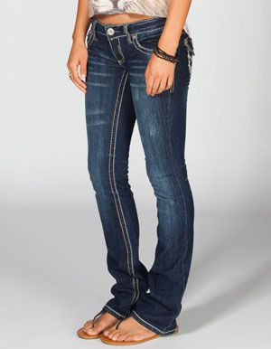 AMETHYST JEANS Embroidered Pocket Womens Bootcut Jeans