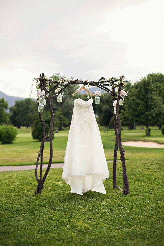Wedding Arch and dress - better than hanging in the locker room!!!