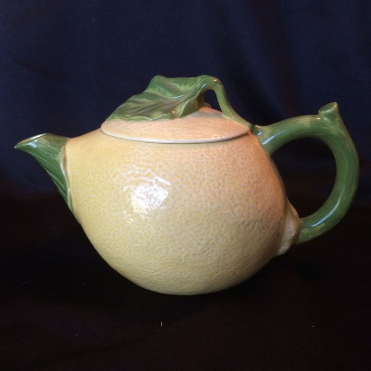Lemon Teapot Hearth And Home Designs Fruit Shaped Yellow Green Ceramic In  Collectibles, Decorative Collectibles, Tea Pots, Sets