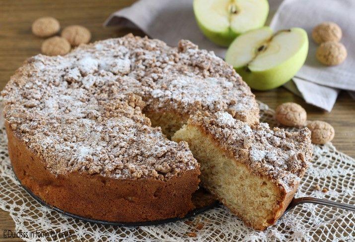Torta di mele e amaretti: una torta morbidissima e soffice, dal sapore davvero unico. Davvero gustosa, dovrete fare sicuramente il bis ! Specialissima !