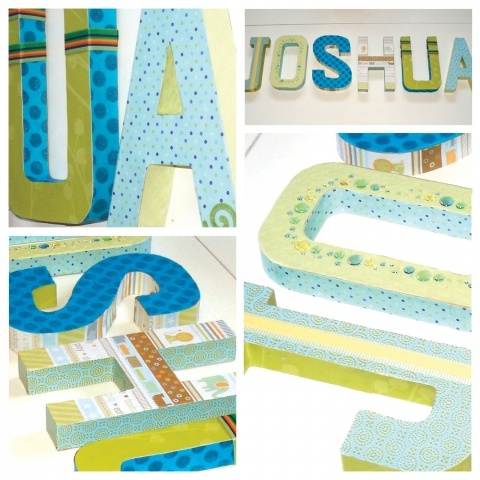 Fun with paper nursery letters cardboard letters and for 24 cardboard letters