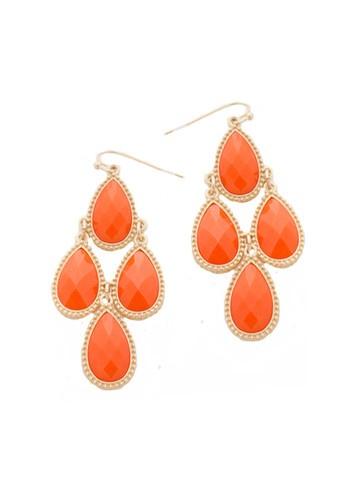 DejaVu — Teardrop Dangle Earrings (orange)