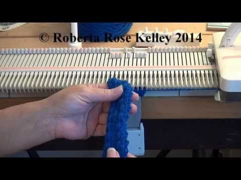 Machine Knit Braid Trim - YouTube