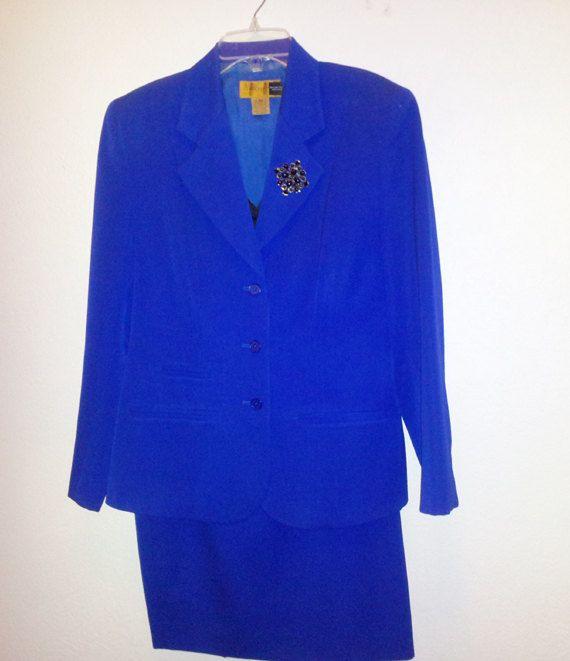 100 Wool Electric Blue Suit A NORDSTRON Classique by myabbiesattic, $39.00