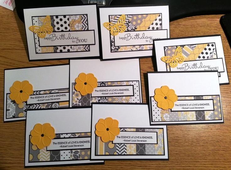airbornewife's stamping spot Ved å bruke papirrester, kan man lage flotte kort