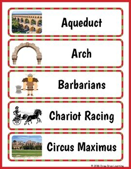 Ancient Rome Word Wall: Immerse your class in the world of ancient ...