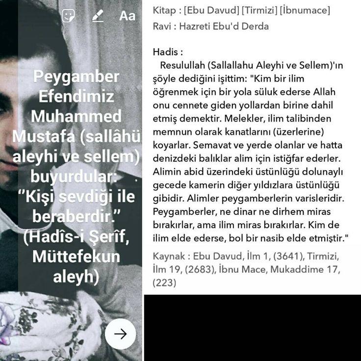Peygamber Efendimiz Muhammed Mustafa (sallâhü aleyhi ve sellem) buyurdular: ''…Kendin için sevip arzu ettiğini, insanlar için de sev ki (kamil) Müslüman olasın.'' (Hadîs-i Şerîf, Sünen-i Tirmizî) ☝ Peygamber Efendimiz Muhammed Mustafa (sallâhü aleyhi ve sellem) buyurdular: ''Ameller, dolu bir kap gibidir. Altı güzel olduğu zaman üstü de güzel olur. Altı bozuk olduğu zaman üstü de bozuk olur.(Ameller ihlâsla yapılırsa zâhirde onun güzelliği parlar, riya için yapılırsa zâhirde zulmeti…