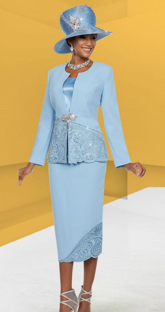 72e32473127 Ben Marc Suit 48116-Blue Velvet - Church Suits For Less
