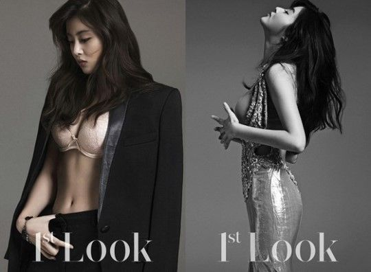 Kang So-ra, Korean actress who was on the news recently for wearing a 39,000 won dress in a music awards ceremony, was put on the limelight again for her appearance on lingerie photos in a magazine. In the October issue of the FirstLook magazine, Kang boasted her voluminous body for Parah, the Italian luxury lingerie and swimwear brand.