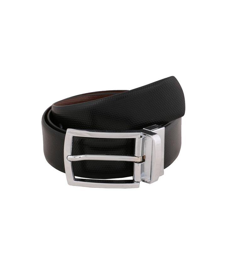 Vinson Massif Marco Black Brown Reversible Leather Belt