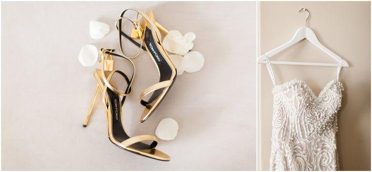 Gorgeous Tom Ford gold stilettos.