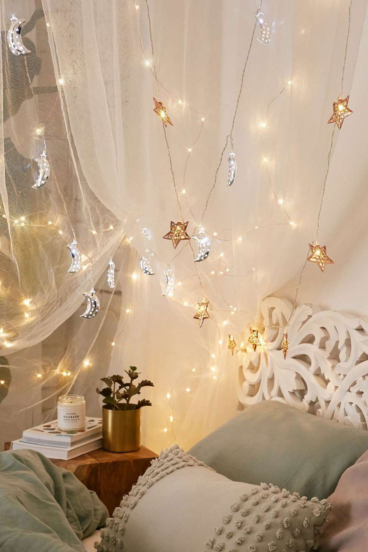 Urban outfitters bedroom - Copper Star Fairy Lights