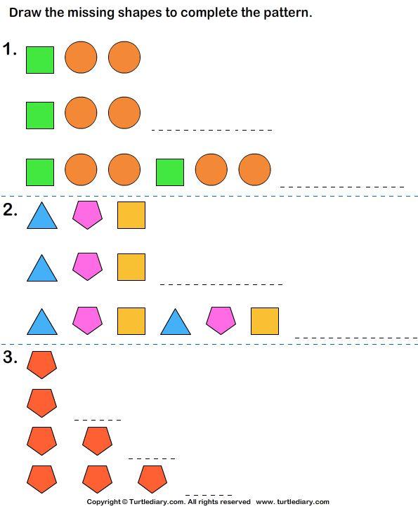 growing pattern worksheet1 math pattern worksheet kindergarten math worksheets math patterns. Black Bedroom Furniture Sets. Home Design Ideas