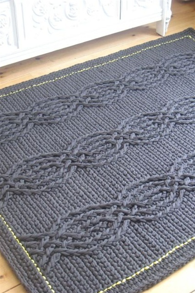 Crochet pattern rope rug | Real Studio