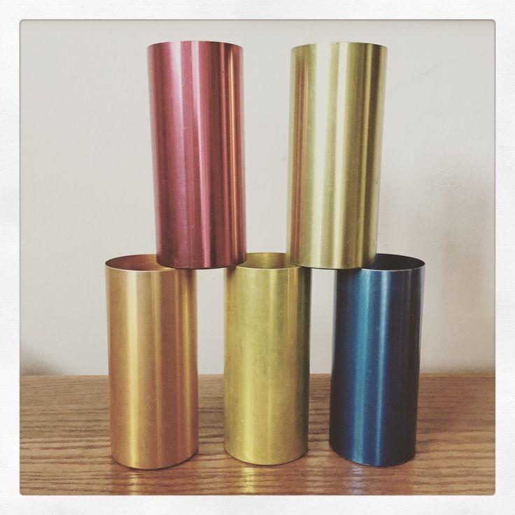 Set of Five Retro 60's Anodized Aluminium Tumblers