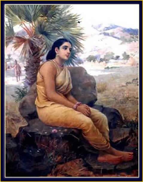 raja ravi varma's oil painting