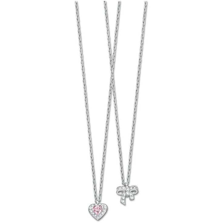 169 best necklaces pendants images on pinterest swarovski swarovski treasure heart bow mini pendant 5055953 duty free crystal aloadofball Choice Image