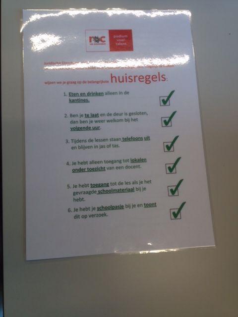 Huisregels ROC Amsterdam