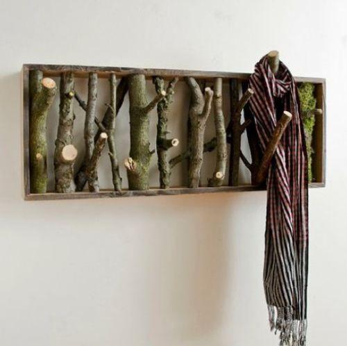twig coat rack: Ideas, Craft, Coat Racks, Diy, Coats, Coatrack