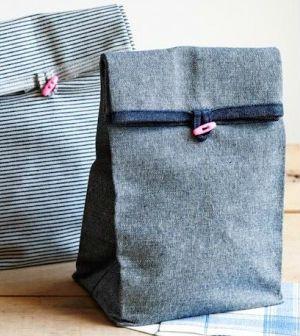 Saquinho de tecido para lanche passo a passo