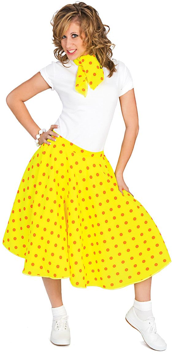 50's fashion | 50's Sock Hop Costume Skirt - Fifties Costumes