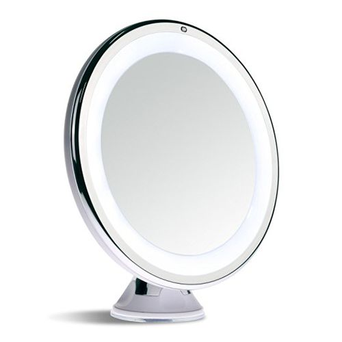 Sanheshun 7X Magnifying Lighted Travel Makeup Mirror - BestProducts.com