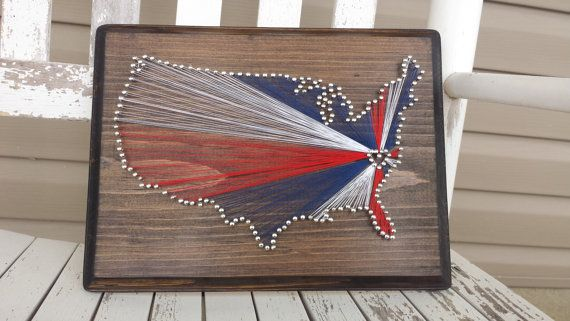 USA String Art with a Heart Over Your Hometown!  Check out this item in my Etsy shop https://www.etsy.com/listing/199098904/usa-string-art-with-a-heart-over-your