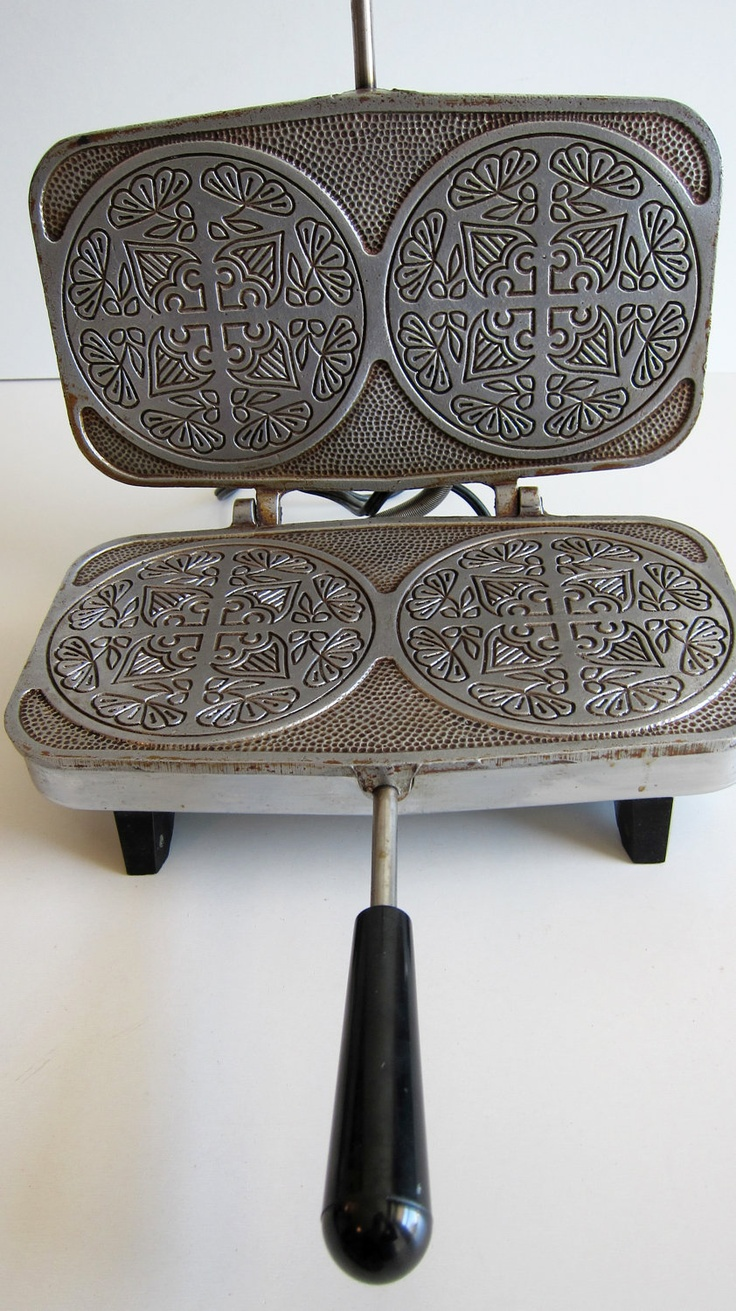 Krumkake Baker Automatic Vintage Scandinavian Cookie Maker Pizzelle Waffle iron. $24.00, via Etsy.