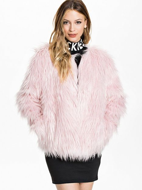 Fauxe Fur Jacket - Estradeur - Pink - Jackets And Coats - Clothing - Women - Nelly.com