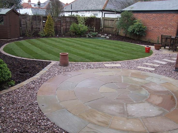 Gardens Liverpool | Circle Patio & Circle Lawn Transformation Garston - Abel Landscapes
