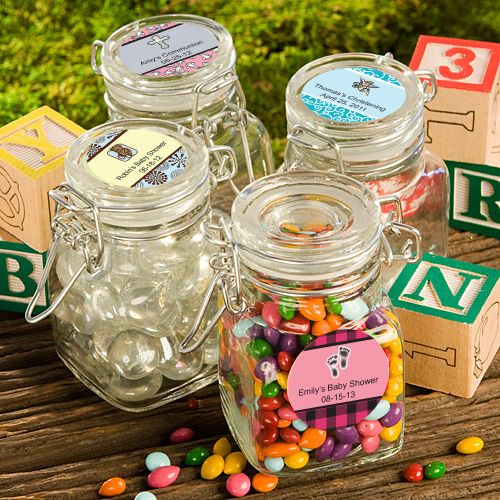 <i>Personalized Expressions </i> Apothecary Jar Baby Shower Favors - Nice Price Favors