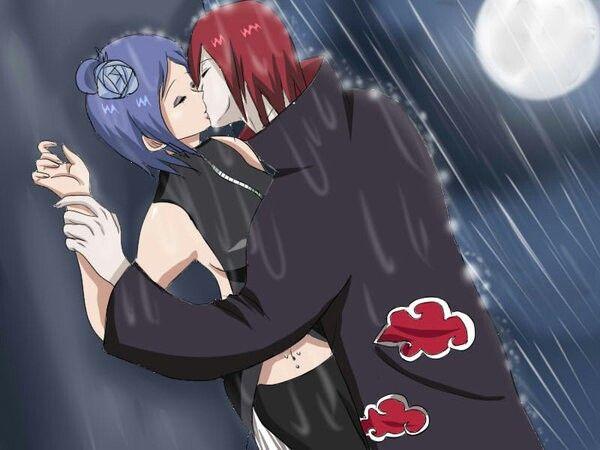 NagaKonan kiss under rain