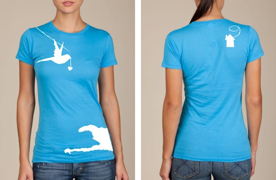 Lovie Shirts 4 Haiti  Turquoise by LovieBird on Etsy, $25.00    my friend makes these and they are so cute and go to a good cause!!