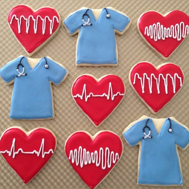 Nurse or doctor themed cookies                                                                                                                                                                                 Mais