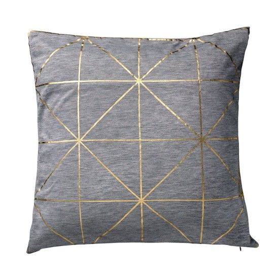 geometric. thin gold foil. gray.